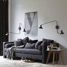 interior design home Gray Interior, Living Room Interior, Living Room Inspiration, Interior Design Inspiration, Am Pm La Redoute, Living Room Designs, Living Spaces, Stylish Eve, Piece A Vivre