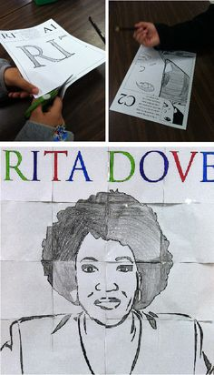 National Poetry Month lesson on the first African American U.S. Poet Laureate, Rita Dove. The lesson includes reading, writing, and art activities and an original poem by Rita given to me for this lesson!