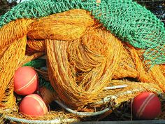 Fishing nets at the fish co-operative wharf, Bermagui, NSW, Australia     #fishing  Click the on the pic for more info.  http://www.bamboonets.com