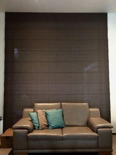 vouwgordijnen 4,20 meter breed. #interieur #gordijn #decor www ...