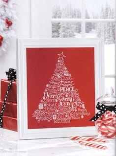 TP Words of Joy Tree by Ursula Michael A Cross Stitch Christmas