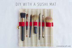 Una esterilla de sushi… para tu maquillaje