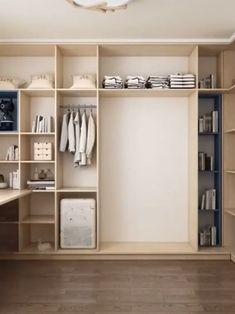 Wardrobe Cabinet Bedroom, Wardrobe Design Bedroom, Modern Bedroom Design, Home Room Design, Closet Bedroom, Closet Wall, Small Closet Design, Small Closet Space, Closet Designs