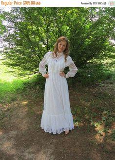On Sale Vintage Gunne Sax White Lace Boho by ElizabethJeanVintage