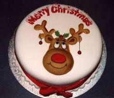 Image result for reindeer christmas cake Fondant Christmas Cake, Christmas Themed Cake, Christmas Cake Designs, Christmas Cake Decorations, Christmas Cakes, Xmas Cakes, Christmas Baking, Christmas Stuff, Christmas Ideas