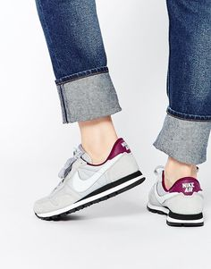 Buy Nike Air Pegasus Grey 83 Trainers at ASOS. Get the latest trends with ASOS now. Nike Air Pegasus, Asos, Nike Logo, Sock Shoes, Shoe Boots, Nike Flyknit Racer, Nike Shoes, Sneakers Nike, Mein Style