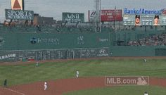 BOSTON - JUNE 17, 2014:  Legend of Brock Holt continues to grow with this amazing out-of-nowhere catch