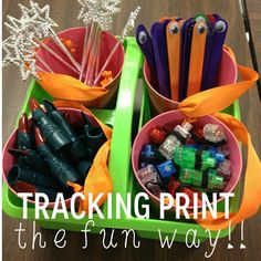 Tales of Frogs and Cupcakes: Tracking print--the FUN way!