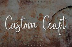 Meet new Handwritten font Custom Craft! Custom Craft - a new handwritten font. Very suitable for greeting cards, branding materials, business cards, quotes, Bold Script Font, Best Script Fonts, Best Free Fonts, Handwritten Fonts, Cool Fonts, New Fonts, Font Free, Calligraphy Fonts, Pretty Fonts