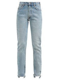 Balenciaga V-waist Straight-leg Jeans In Light Blue Balenciaga, Jean Outfits, Skirt Outfits, Denim Jeans, Mom Jeans, Black And White Logos, Fashion Dresses, Jeans Fashion, Fashion Jobs