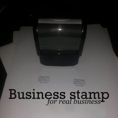 Get a real business, get a business stamp   FreelanceBusinessMastery.com