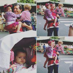Vovô apareceu na feira para alegria das meninas. Rsrs