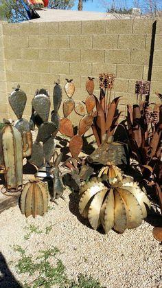 Variety of Metal Cactus yard art for Sale in Phoenix AZ 2019 Variety of Metal . Variety of Metal C Metal Yard Art, Metal Tree Wall Art, Scrap Metal Art, Recycled Metal Art, Welding Art Projects, Metal Art Projects, Cactus Decor, Cactus Art, Metal Art Sculpture