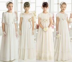 Wow 😯 so happy for my girl First Communion Dresses, Baptism Dress, Little Dresses, Girls Dresses, Flower Girl Dresses, Moda Formal, Dress Anak, Flower Girl Hairstyles, Everyday Dresses