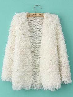 Shop Beige Long Sleeve Shaggy Slim Cardigan Sweater online. SheIn offers Beige Long Sleeve Shaggy Slim Cardigan Sweater & more to fit your fashionable needs.