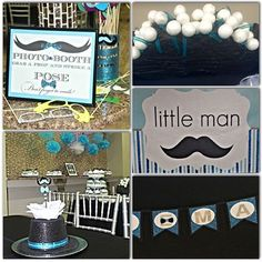 Little Man Baby Shower #details #styled party pack #signage #sweets #top hats #mustaches #bow ties #hand made party decor #events #design #event designer #jodesigns__ #mickeys_cake