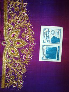 Wedding Saree Blouse Designs, Fancy Blouse Designs, Saree Wedding, Aari Embroidery, Embroidery Designs, Aari Work Blouse, Zardosi Work, Maggam Works, Hand Designs