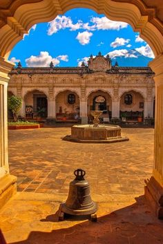 Hidden courtyard in Antigua, Guatemala