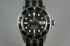 Rolex Submariner ref 1680, looks really nice on the grey/black NATO