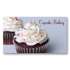 16 best cupcake shaped business cards images on pinterest bakery modern chocolate cupcakes sprinkle frosting business card colourmoves