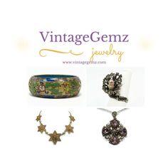 VintageGemz Vintage & Antique Jewelry #vintage #jewelry #antique #jewellery #necklaces #bracelets #rings #silver #gold #costume #fine #victorian #retro #sterling #etsy