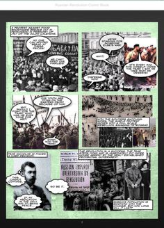 Russian Revolution Comic Book by Jeremy Reid's HS Social Studies Class: https://itunes.apple.com/ca/book/russian-revolution-comic-book/id744459669?mt=11