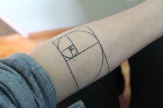 #golden #spiral #tattoo #arm