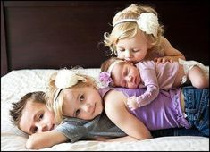 sibling pic - it's hard finding a cute pose with four!