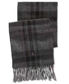 Polo Ralph Lauren Men's Reversible Plaid Driver Scarf