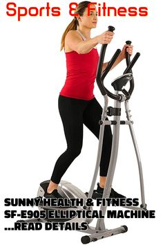 (This is an affiliate pin) Sunny Health & Fitness SF-E905 Elliptical Machine Cross Trainer with 8 Level Resistance and Digital Monitor Cross Trainer, Sunnies, Cardio, Monitor, Trainers, Health Fitness, Digital, Sports, Tennis