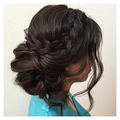 31 Most Beautiful Updos for Prom ❤ liked on Polyvore featuring beauty products, haircare, hair styling tools and hair