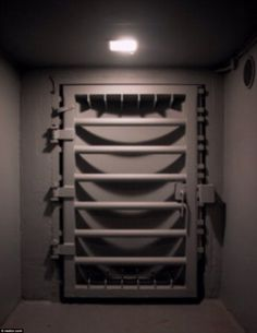 Secure: The Cold War missile bunker is fully equipped with heavy gun-metal gray blast doors that are both a good security system and can withstand nuclear fallout