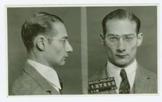 Police Department, City of New York black and white mug shots of Morris Goldis, alias Moish (1937).    Source: Burton Turkus Papers; Special Collections, Lloyd Sealy Library, John Jay College of Criminal Justice http://www.lib.jjay.cuny.edu/crimeinny/