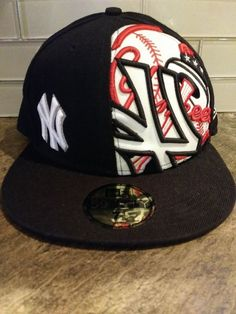 5c0a8320b6c NY Yankees 59 Fifty New Era Baseball Size 7 1 8 Fitted Cap Black Red