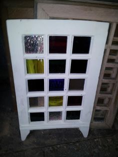 Stained glass window Stained Glass Windows, Reuse, Repurposed, Recycling, Diy Projects, Cabinet, Storage, Furniture, Home Decor