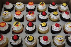 Emily's Delights: Firefighter Cupcakes & Toppers 09/2010