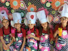 Ziggy zinnia, vera bradley, photobooth, birthday party, cooking birthday party, apron, chef hat