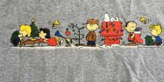 vintage Peanuts t-shirt, Charlie Brown's Christmas, color gray Adult Large short sleeves by MotherMuse on Etsy