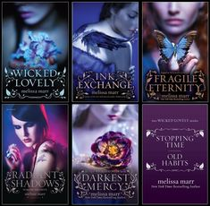 Wicked Lovely Series by Melissa Marr. Read the top 3. Need bottom 3