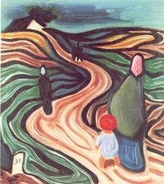 """Josef Čapek (Czech 'Lide' 1933 I love"" Cubism Art, Georges Braque, Portrait Art, Figurative Art, Impressionist, Colored Pencils, Modern Art, Illustration Art, Scene"