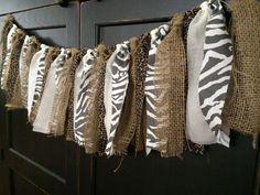 Rustic Safari Fringe Rag Tie Garland in Burlap, Leopard, Zebra Print Fabric-like for camp k cafeteria Animal Print Classroom, Jungle Theme Classroom, Classroom Setting, Classroom Design, Future Classroom, Classroom Themes, Classroom Window, Safari Room, Jungle Room