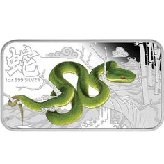 2013 Colorized Australian Snake Silver Rectangle Sets from JM Bullion™ Mint Coins, Silver Coins, 1 Carat, Perth, Magnesium Oil, Coin Auctions, Year Of The Snake, Blue Lips, Silver Bullion
