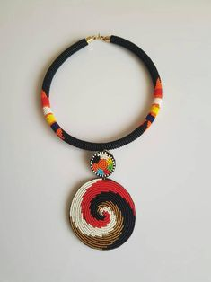 Diy African Jewelry, African Beads Necklace, African Accessories, Tassel Jewelry, Bead Jewellery, Beaded Jewelry, Jewelry Findings, Diy Jewelry, Beaded Anklets