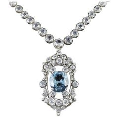 preowned antique french victorian blue white topaz necklace collar 8110 aloadofball Choice Image