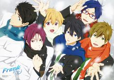 Free!, Nanase Haruka (Free!), Tachibana Makoto, Yamazaki Sosuke, Matsuoka Rin