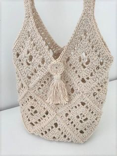 Crochet Market Bag, Crochet Tote, Crochet Handbags, Crochet Purses, Knit Or Crochet, Crochet Diaper Bag, Crocheted Bags, Purse Patterns Free, Bag Pattern Free