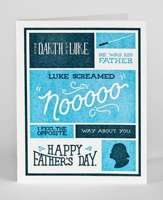 A fun Star Wars Father's Day card idea