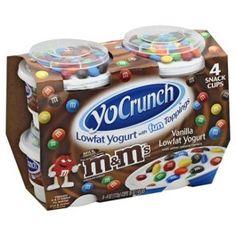 YoCrunch Low-Fat Vanilla Yogurt with Milk Chocolate M&M's YoCrunch Low‑Fat Vanilla Yogurt with Milk Chocolate M&M's ‑ Shop Yogurt at H‑E‑B Chocolate Candy Brands, Snickers Ice Cream, Japanese Drinks, Chocolate Spread, Low Fat Yogurt, Natural Yogurt, Vanilla Yogurt, Corn Syrup, Products