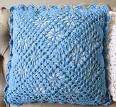"The location where building and construction meets style, beaded crochet is the act of using beads to decorate crocheted products. ""Crochet"" is derived fro Crochet Pillow Cases, Crochet Pillow Pattern, Crochet Cushions, Pillow Patterns, Crochet Home, Bead Crochet, Crochet Motif, Square Patterns, Crochet Stitches Patterns"
