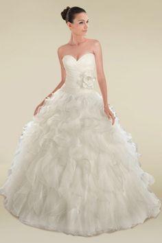 ruffle ball gown wedding dress - Google Search